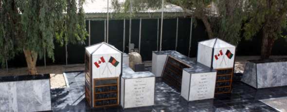 Part of the memorial to Canadians killed on the Afghan mission National Post James Alexander Michie
