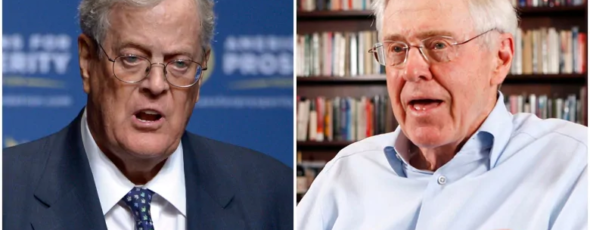 David Koch left, and his brother Charles have had a significant impact and reach on U.S. political life CBC News | James Alexander Michie