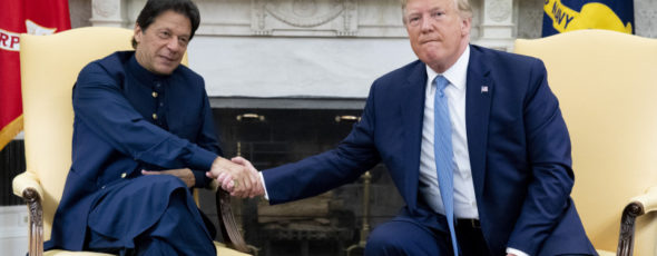 Trump shakes hands with Imran Khan, Pakistan's prime minister Macleans   James Alexander Michie