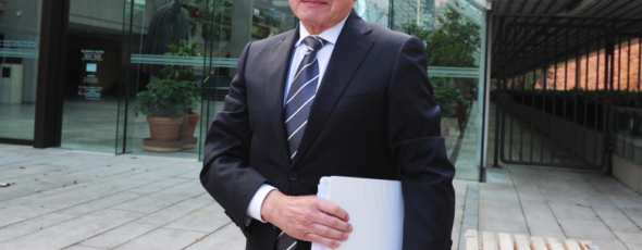 Dr. Brian Day outside B.C. Supreme Court National Post   James Alexander Michie