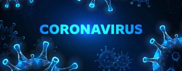 Futuristic glowing low polygonal coronavirus cells banner on dark blue background Conservative Review | James Alexander Michie