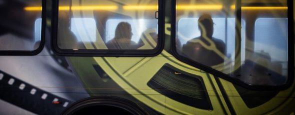 A Hertz shuttle bus Bloomberg News | James Alexander Michie